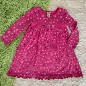 Girls J Khaki LS Pink Floral Hearts Dress G45